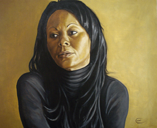 Portrait painting of woman