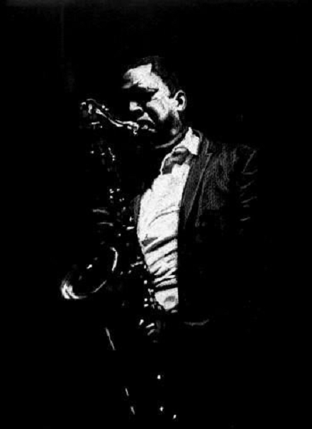 Drawing jazz John Coltrane