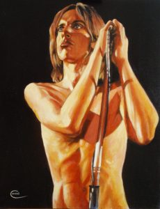 Iggy Pop acrylic painting