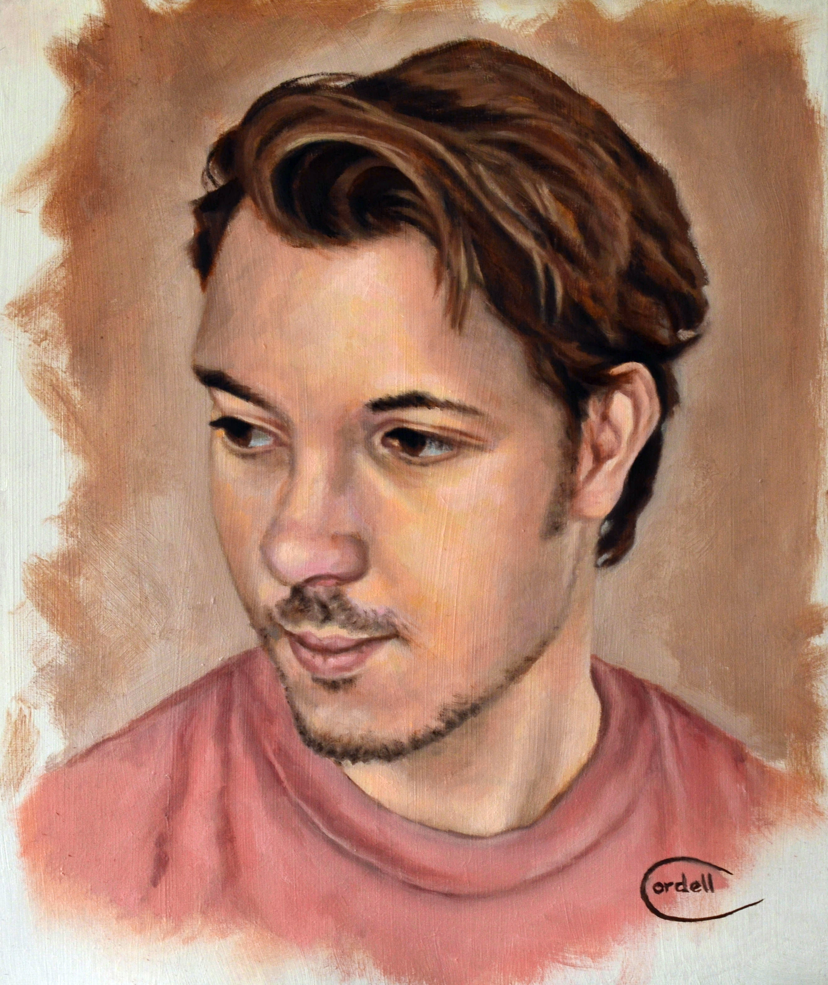 Oil painting portrait of Stefan.