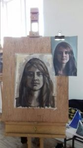 Cordell Garfield Portrait painting workshop student work Yardley Arts