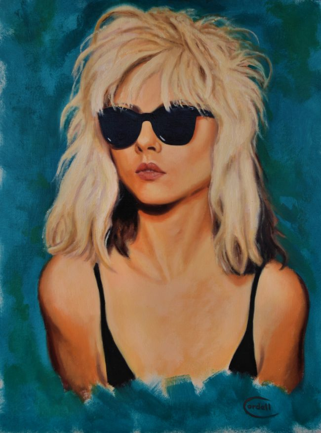 Debbie Harry oil painting portrait