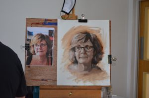 Yardley Arts Portrait painting workshop