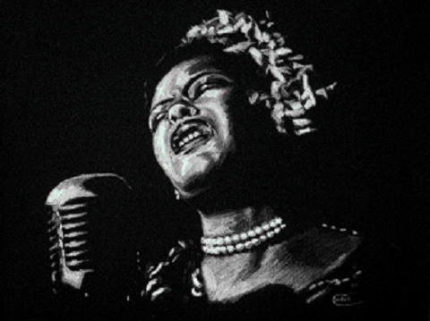 Drawing portrait Billie Holiday