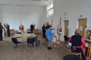 Portrait painting workshop Yardley Arts